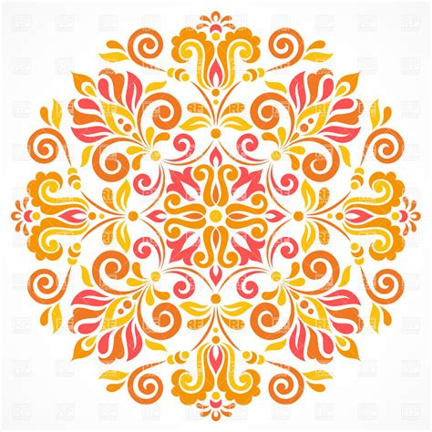 round floral designs ornate round design element floral pattern royalty free