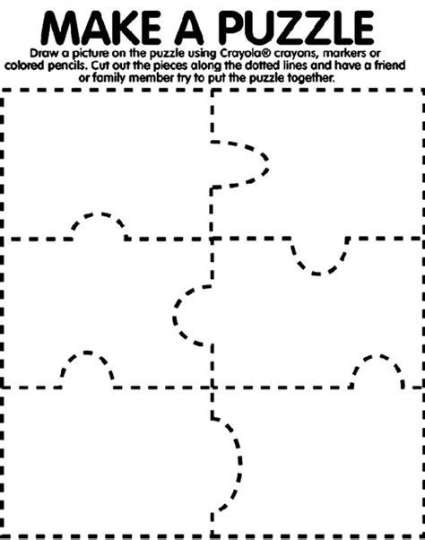 How To Make A Puzzle Out Of Paper - 1 use crayola 174 crayons colored pencils or markers to