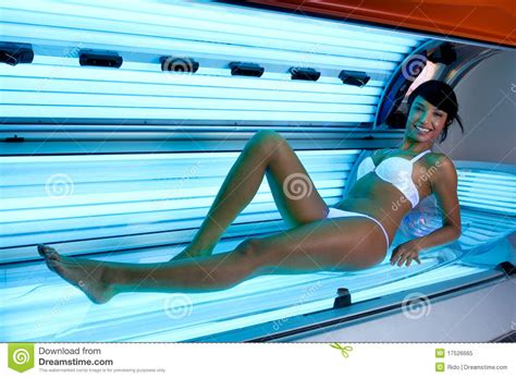 tanning bed naked tanning at solarium stock image image of fashion l
