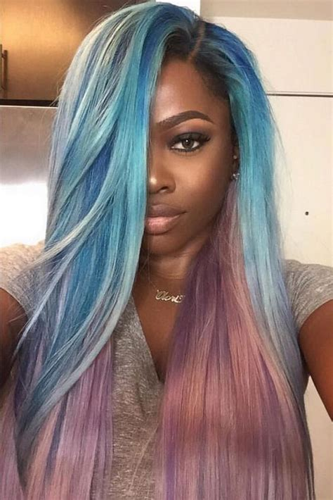 pics of black women hair ends colored 35 stunning protective sew in extension hairstyles