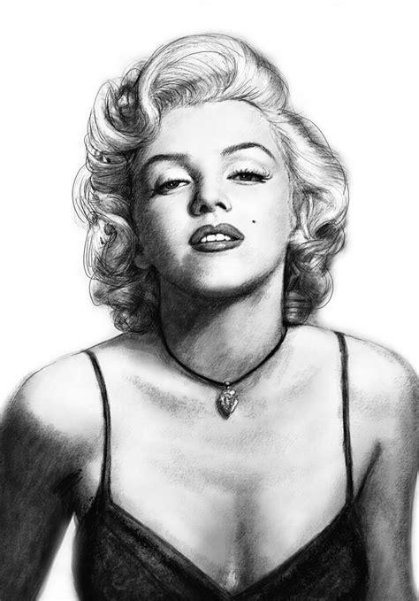 marilyn monroe zeichnung marilyn monroe art drawing sketch portrait painting by kim
