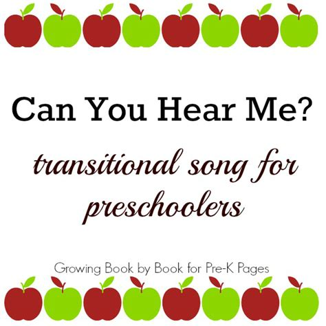 song pre k transition song for the preschool classroom pre k pages