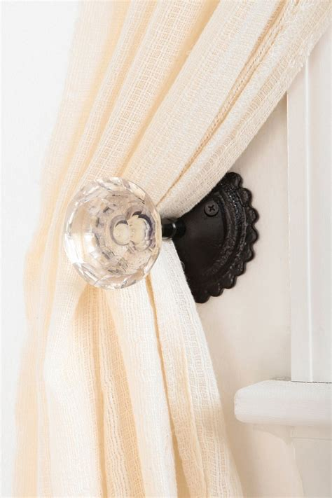 curtain tie back knobs door knob curtain tie back urban outfitters
