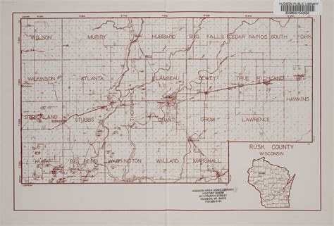 Rusk County Records The State History Of Rusk County Wisconsin Map Of Rusk County Wisconsin