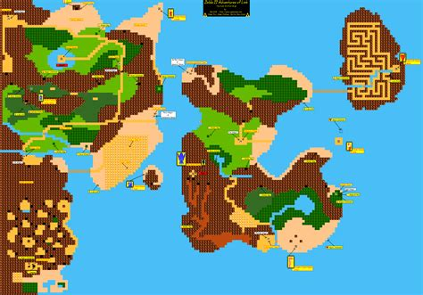 legend of zelda world map zelda ii the adventure of link world map
