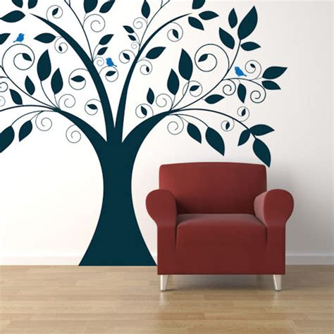 Giant Tree Wall Stickers cute tree giant wall decals trading phrases