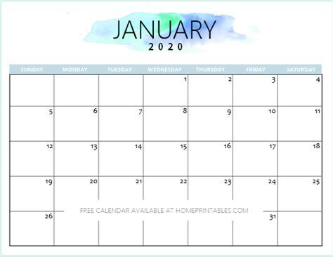 calendar printable simple pretty