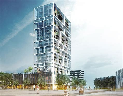 house structure design this mixed use tower in belgium will help you make friends