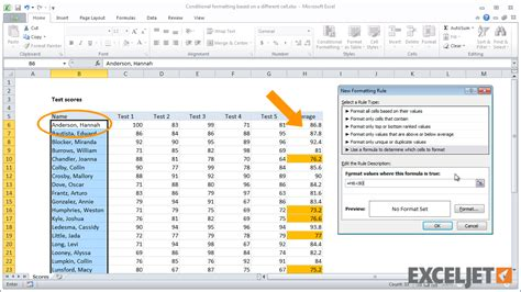format excel based on another cell excel tutorial conditional formatting based on a