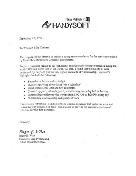 Service Provider Letter Template Letter Of Recommendation For Organization Best Template Collection