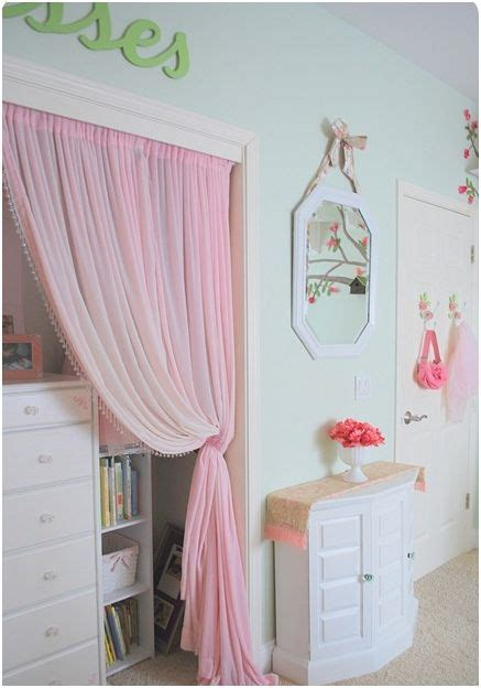 How To Cover A Closet Without Doors by Girl S Room In Bloom Centsational