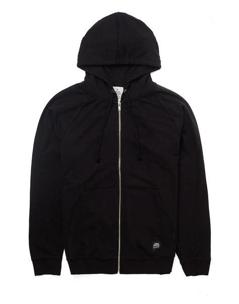 hoodie design cheap uk cheap monday leon zip up hoodie in black for men lyst