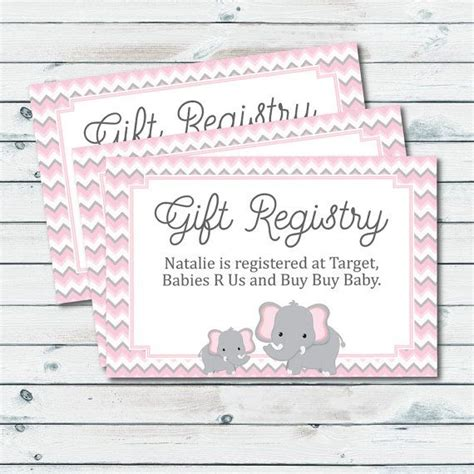 baby shower registry cards template baby registry cards registry inserts baby shower gift