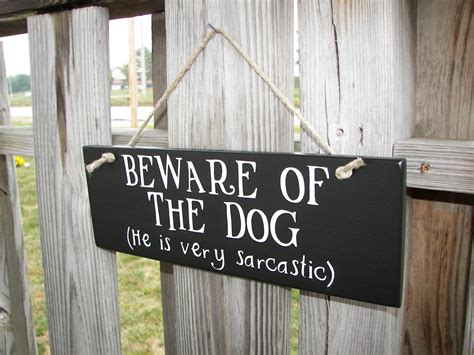 Handmade Signs - wood sign beware of home decor handmade by