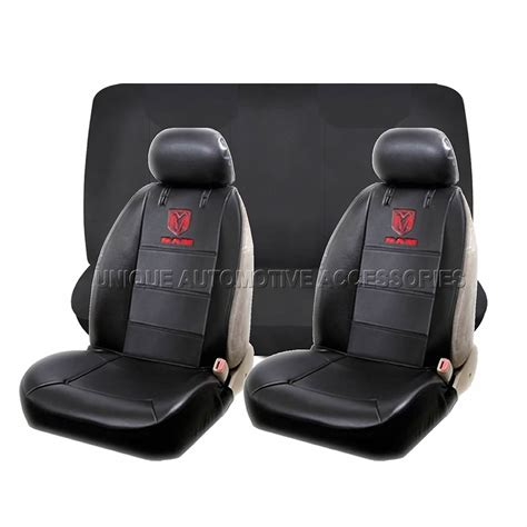 Dodge Ram Seat Upholstery by 11pc Dodge Ram Elite Black Seat Covers Factory Rubber Mats
