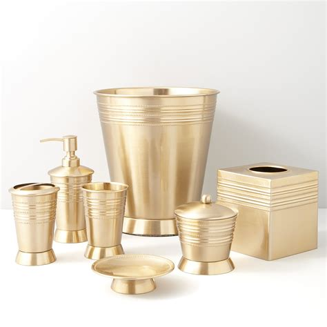Gold Bathroom Accessories New Quot Metallic Bead Quot Satin Brass By Paradigm Trends Bath Accessories Bath