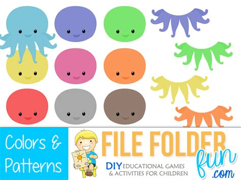 matching your pattern game ocean file folder games