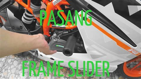 Frame Sliders Axle Slider Ktm Rc 250 pasang frame slider di ktm rc 250 motovlog indonesia