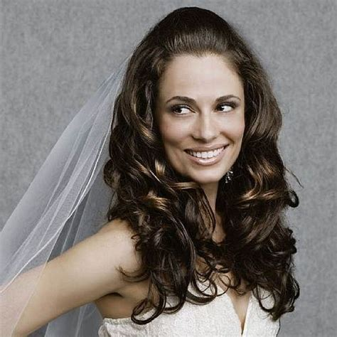 down hairstyles curly hair wedding hairstyles curly down with veil fashion female