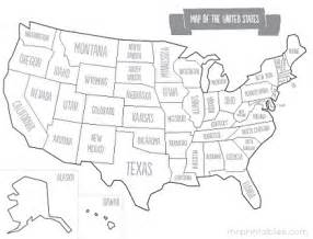 Printable Maps Of Usa by Gallery For Gt Printable Us State Map