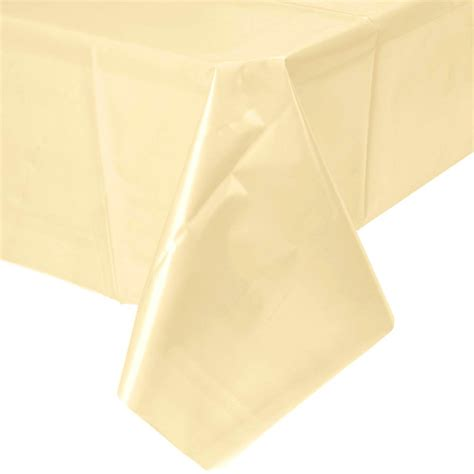 Plastic Table Covers by Plastic Table Cover Ivory 54in Value