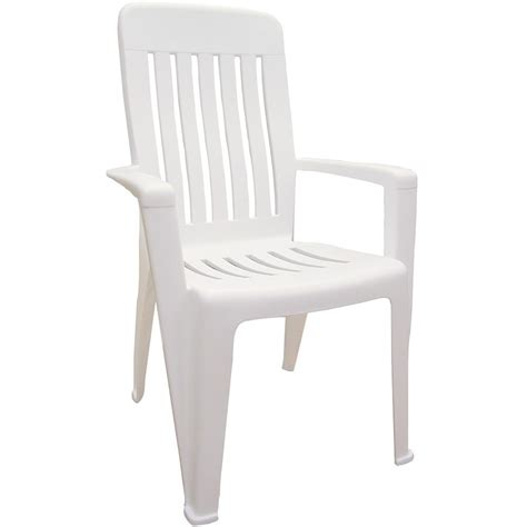Resin Patio Chair Shop Mfg Corp White Resin Stackable Patio Dining