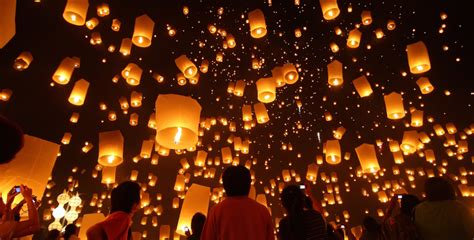 new year lantern new year sky lantern release at banks