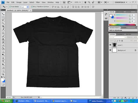 Kaos Layer Rem Re Zero membuat preview desain kaos dengan photoshop arya batoks