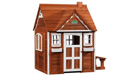 backyard kids house outdoor wooden cedar cottage play house for kids
