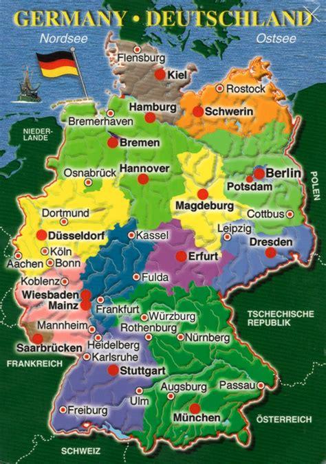 map showing germany postcard anthology germany map postcards