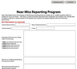 near miss report template near miss reporting form my ud