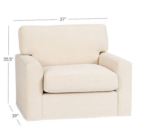 Swivel Armchairs Upholstered by Turner Square Arm Upholstered Swivel Armchair Pottery Barn