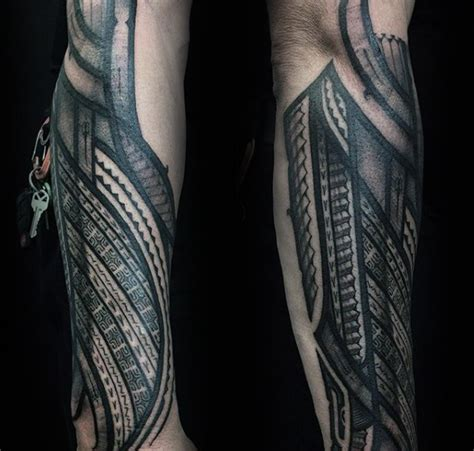 tattoo on outer arm manly guys polynesian outer forearm tattoos polynesian