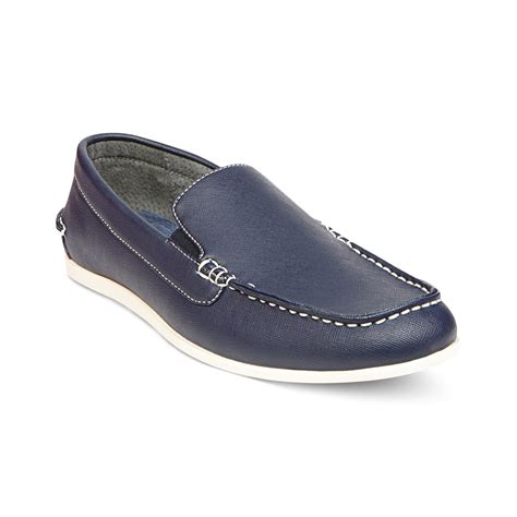 madden loafers steve madden grens slipon loafers in blue for lyst
