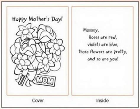 mothers day template card easy printable mothers day cards ideas for family