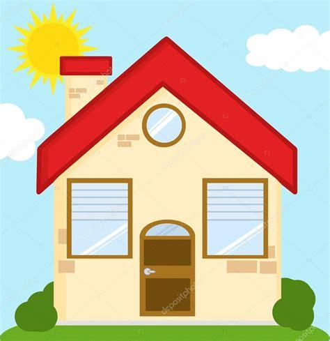 clipart casa casa de tijolo dos desenhos animados vetor de stock