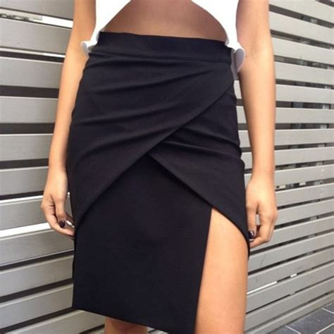 shirt clothes clothes skirt black wrap tight