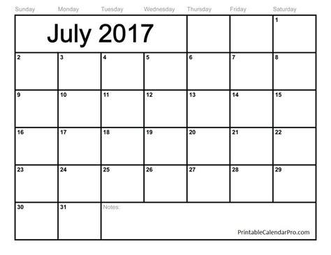 printable calendars july free july 2017 calendar printable calendar pro