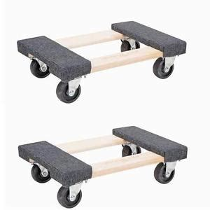 2x 18 heavy duty movers dolly 1000lb moving furniture