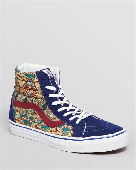 high top vans sneakers vans high top sneakers in blue for blue depths lyst