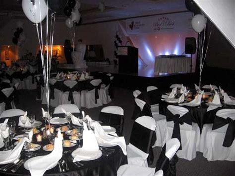birthday party theme elegant black white