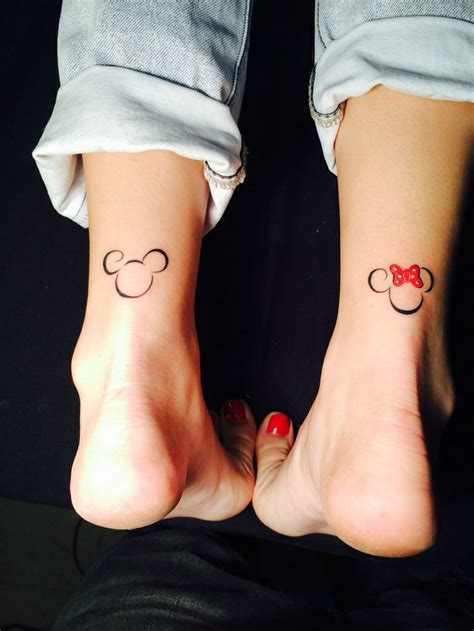 cute disney tattoos 19 adorable disney character mickey and minnie mouse