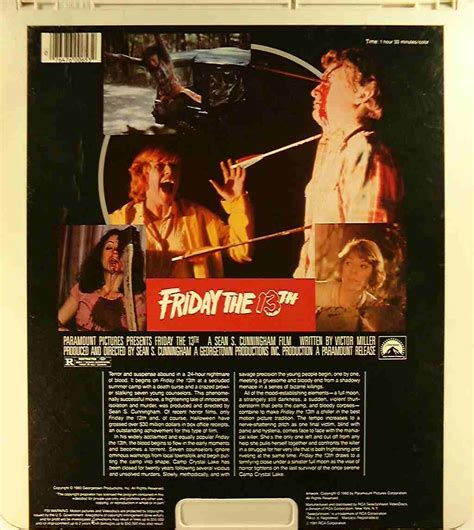 dvd format name friday the 13th 76476006532 c side 2 ced title blu