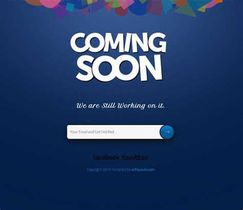 Coming Soon Template 72 best coming soon construction html templates