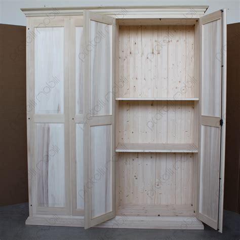 ante armadio su misura pratelli mobili armadio su misura grezzo 4 ante in legno