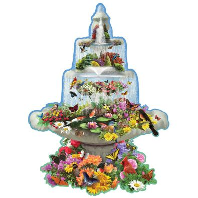 shaped puzzles fountain fantasy 300 large piece shaped