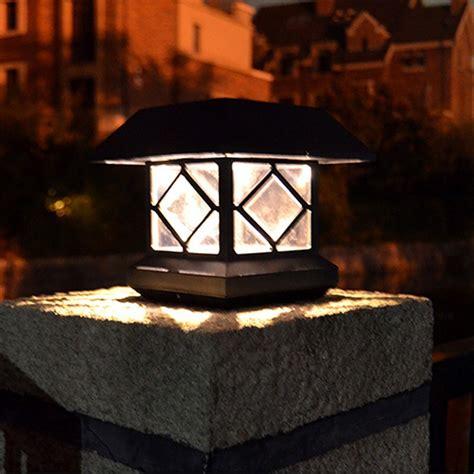 Outdoor House Shape Solar Led Pillar L Waterproof Solar Pillar Lights Outdoor