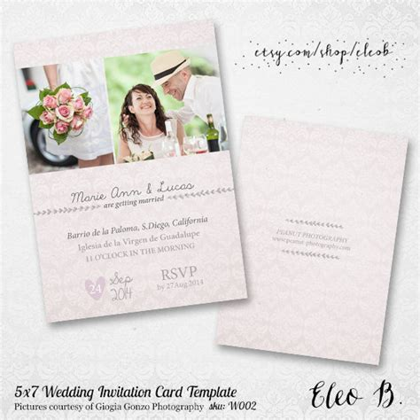 5x7 wedding invitation template photoshop wedding