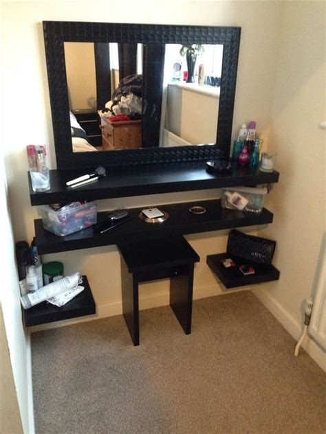 diy mirrored dressing table diy dressing table i would put all the shelves off to the