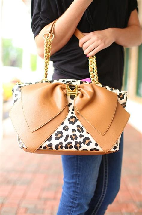 Betsey Johnson For Valentines Day Ebeautydaily The 3 by Bow Nanza Handbag In Leopard By Betsey From Flourish Boutique